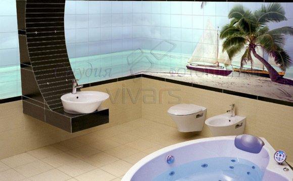Фотопанно в ванной