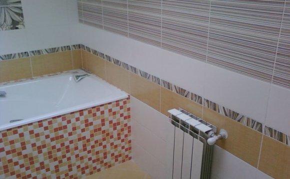 Ремонт ванной комнаты, укладка